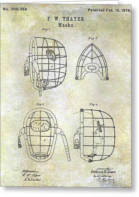 1878 Catchers Mask Patent Greeting Card