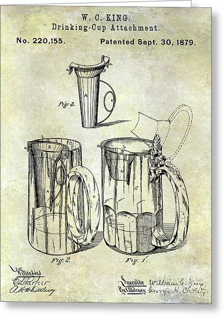 1879 Beer Mug Patent Greeting Card