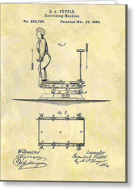 1880 Exercise Machine Patent Greeting Card