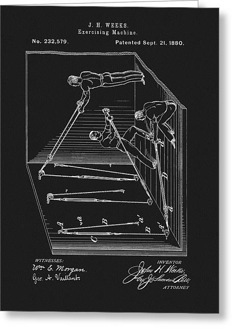1880 Exercising Machine Patent Greeting Card