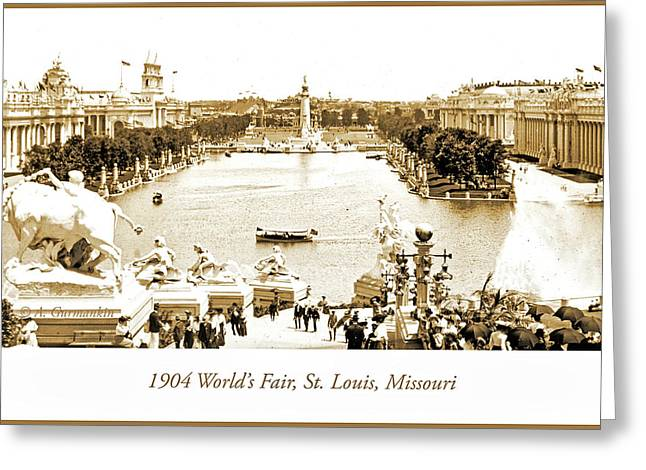 1904 World's Fair, Grand Basin View From Festival Hall Greeting Card