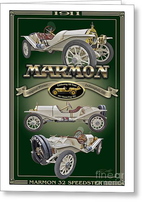 1911 Marmon 32 Speedster Greeting Card