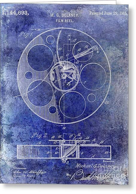 1915 Film Reel Patent Greeting Card