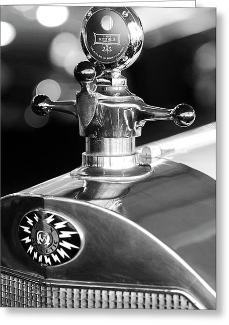 Car Mascots Greeting Cards - 1917 Owen Magnetic M-25 Hood Ornament 2 Greeting Card by Jill Reger