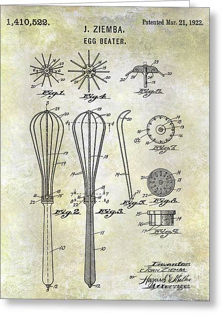 1922 Egg Beater Patent  Greeting Card