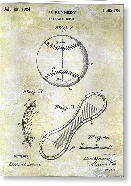 1924 Baseball Patent Greeting Card
