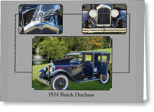 1924 Buick Duchess Antique Vintage Photograph Fine Art Prints 120    Greeting Card by M K  Miller