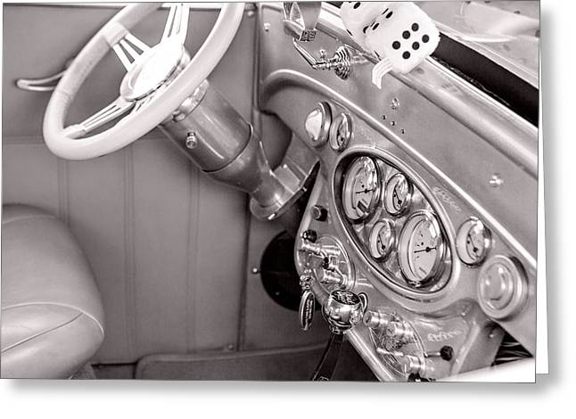 1929 Chevrolet Classic Car Automobile Dashboard Sepia 3130.01 Greeting Card by M K  Miller