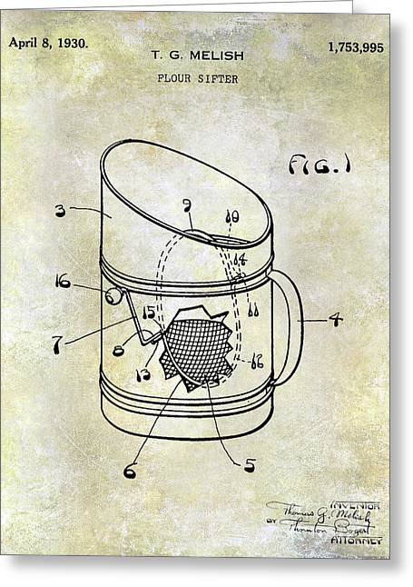 1930 Flour Sifter Patent Greeting Card