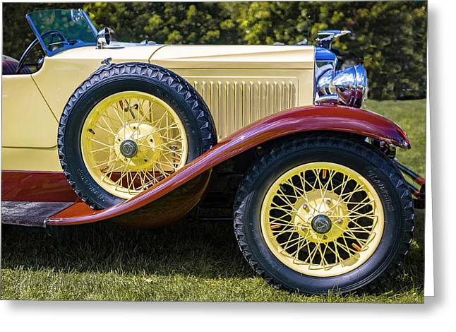 1930 Vauxhall Hurlingham Boattail Greeting Card by Jack R Perry