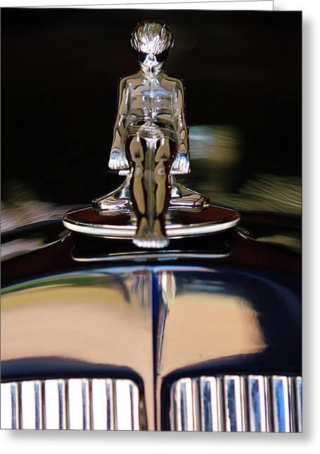 1934 Packard Hood Ornament 3 Greeting Card