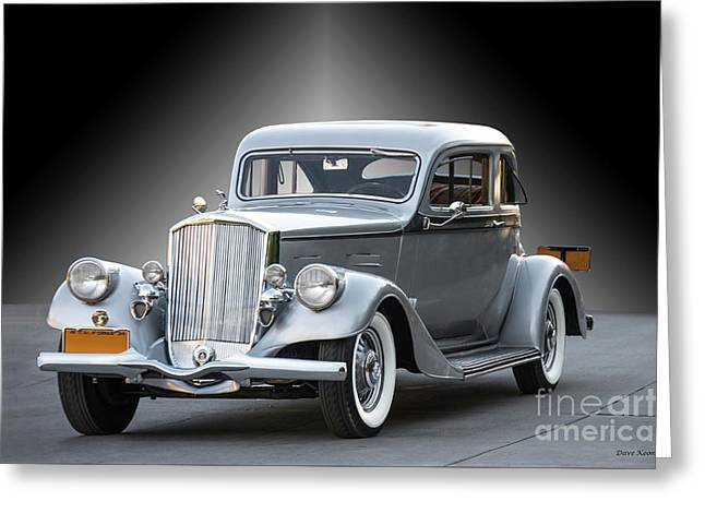 1934 Pierce Silver Arrow Coupe II Greeting Card by Dave Koontz