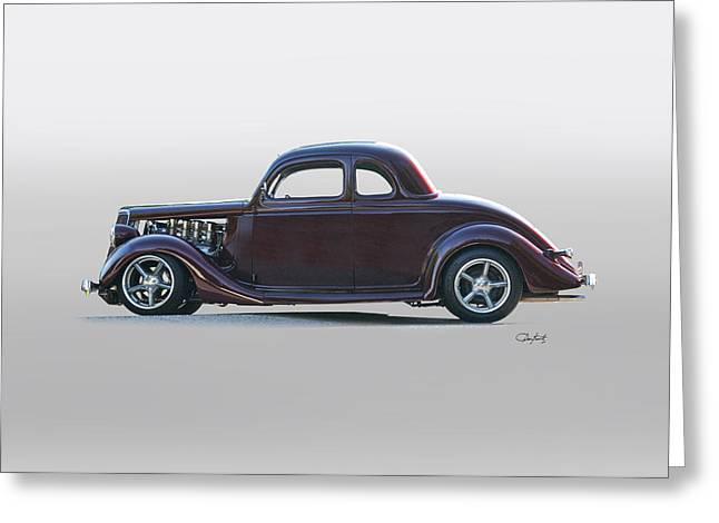 1935 Ford 'five-window' Coupe Greeting Card by Dave Koontz
