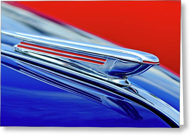 1938 Chevrolet Hood Ornament 2 Greeting Card by Jill Reger