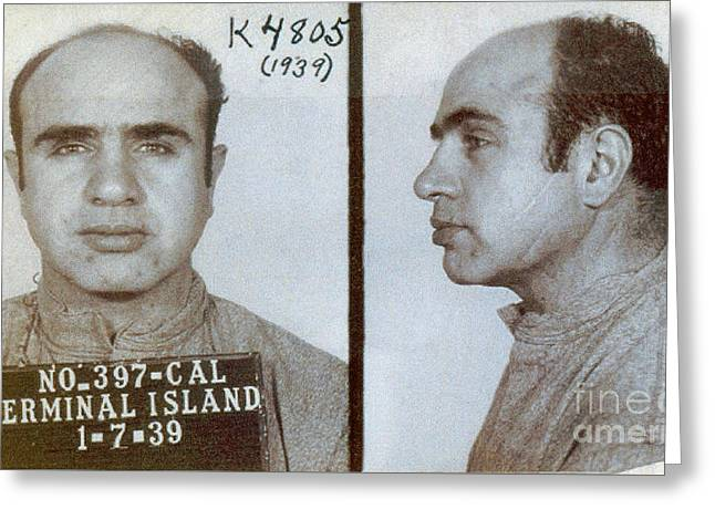 1939 Al Capone Mugshot Greeting Card