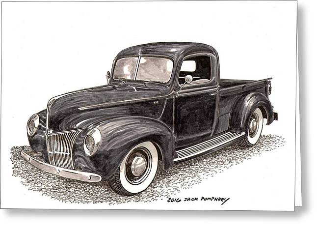 1940 Ford Pick Up Truck Greeting Card by Jack Pumphrey