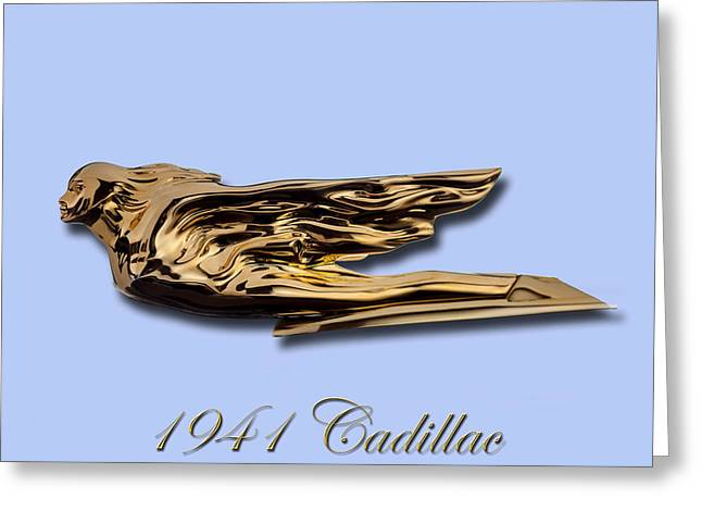 1941 Cadillac Mascot Greeting Card by Jack Pumphrey