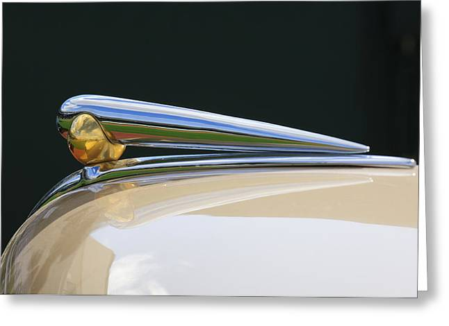 1941 Lincoln Continental Hood Ornament 2 Greeting Card by Jill Reger