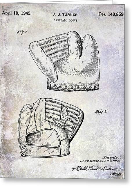 1945 Baseball Glove Patent Greeting Card