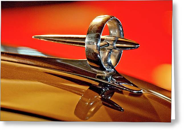 1947 Buick Roadmaster Hood Ornament Greeting Card by Jill Reger