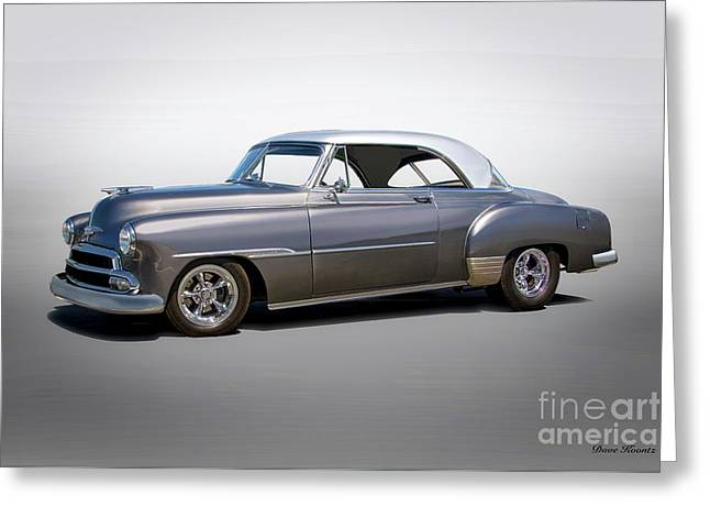 1951 Chevrolet Deluxe 2-door Hardtop Greeting Card by Dave Koontz