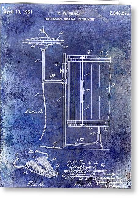 1951 Percussion Patent Greeting Card