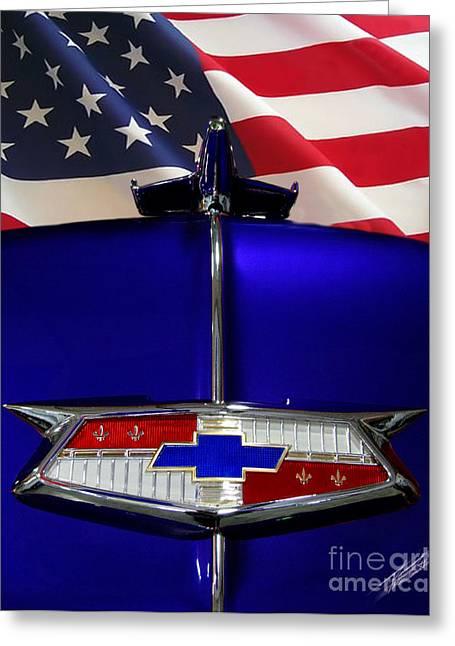 1954 Chevrolet Hood Emblem Greeting Card