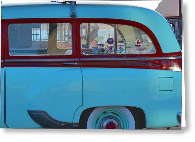 1954 Pontiac Chieftain Station Wagon Greeting Card by Bill Owen