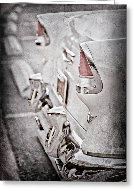 1955 Chevrolet Belair Taillights -0096ac Greeting Card by Jill Reger