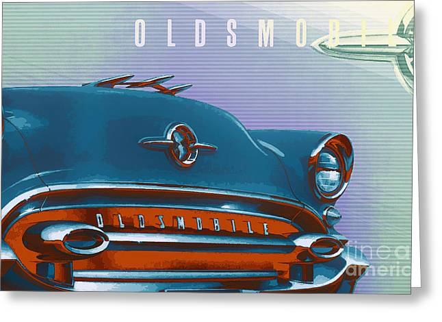 1955 Oldsmobile Ninety Eight Greeting Card by GabeZ Art