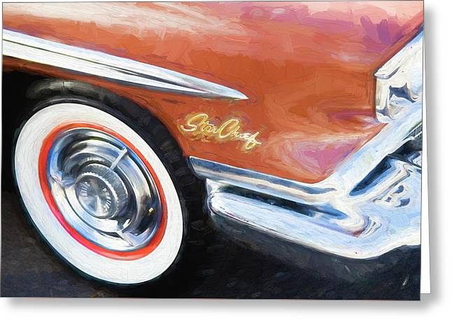 Greeting Card featuring the photograph 1958 Pontiac Star Chief  by Rich Franco