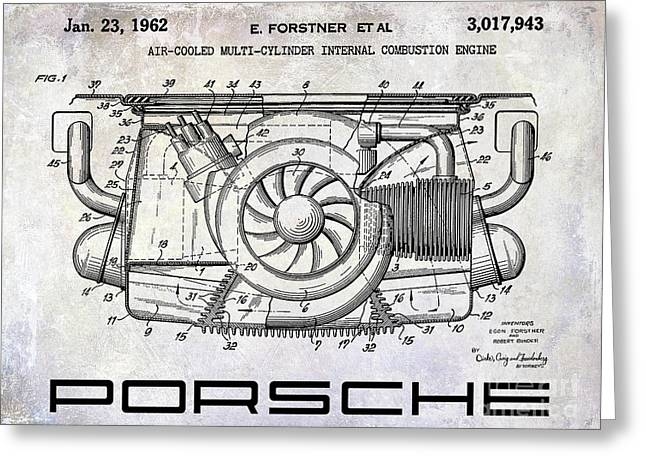 1962 Porsche Engine Patent Greeting Card