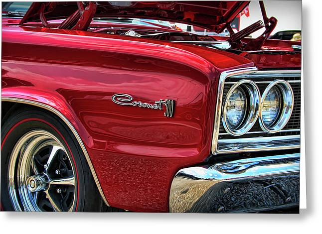 1966 Dodge Coronet 500 426 Hemi Greeting Card by Gordon Dean II