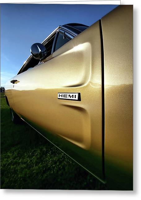 440 Greeting Cards - 1968 Dodge Charger HEMI Greeting Card by Gordon Dean II
