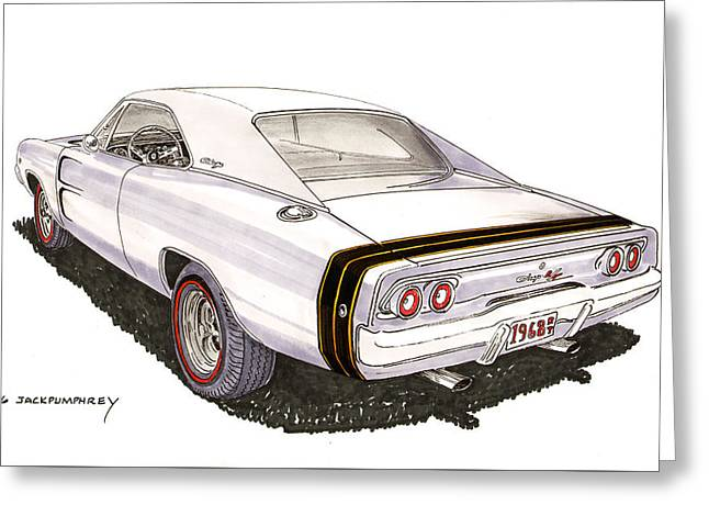 1968 Dodge Charger R T Greeting Card
