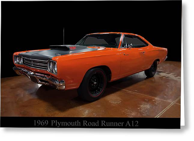 1969 Plymouth Road Runner A12 Greeting Card