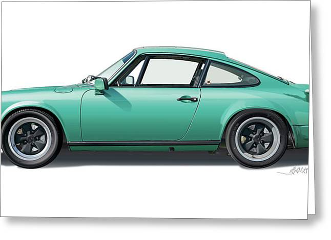 1976 Porsche Euro Carrera 2.7 Illustration Greeting Card by Alain Jamar