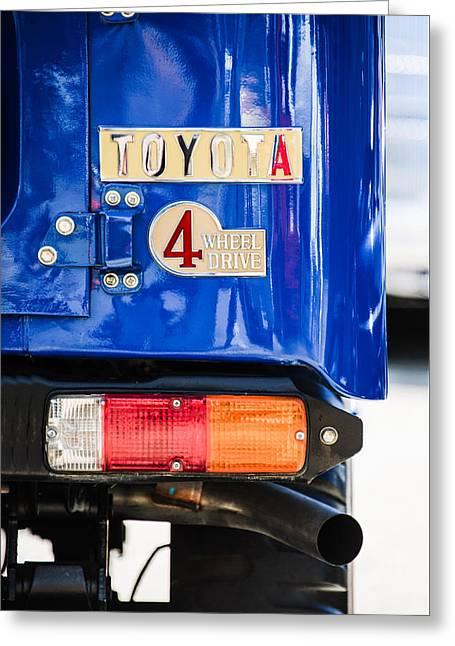 1982 Toyota Fj43 Land Cruiser Rear Emblem -0483c Greeting Card by Jill Reger