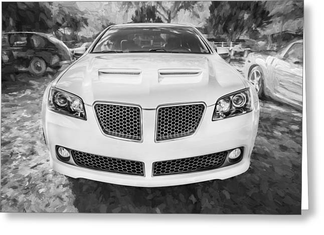 2008 Pontiac Gt8 Painted Bw   Greeting Card by Rich Franco
