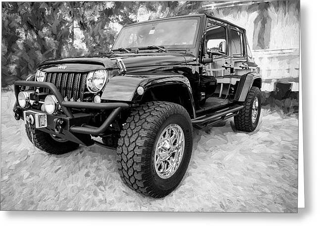 2012 Jeep Wrangler Unlimited Sport 002 Greeting Card by Rich Franco