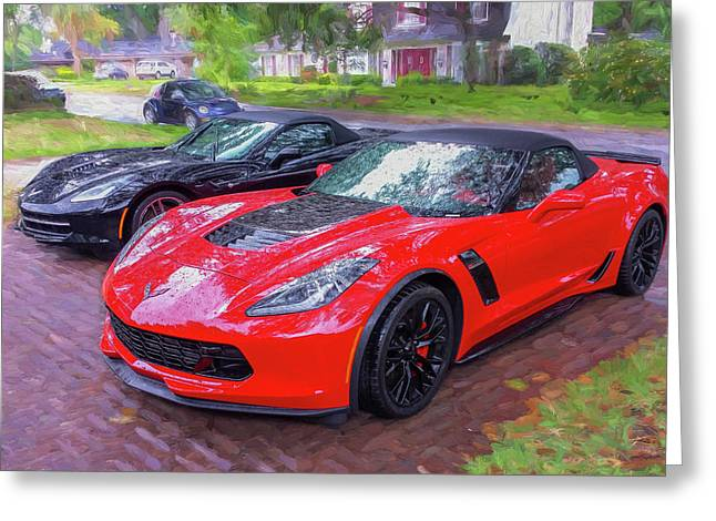 2017 Chevrolet Corvette Zo6 Painted  Greeting Card
