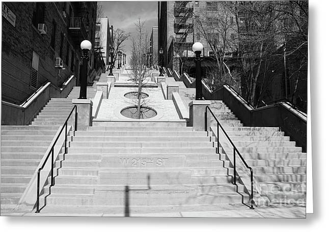215th Street Stairs Greeting Card