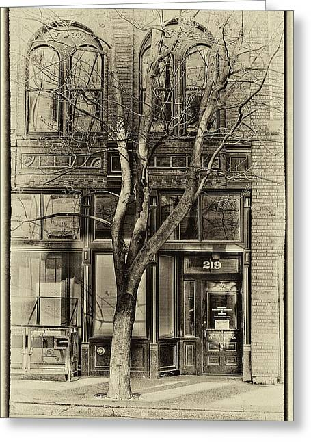 Pioneer Square Seattle Greeting Cards - 219 Washington Street Greeting Card by David Patterson