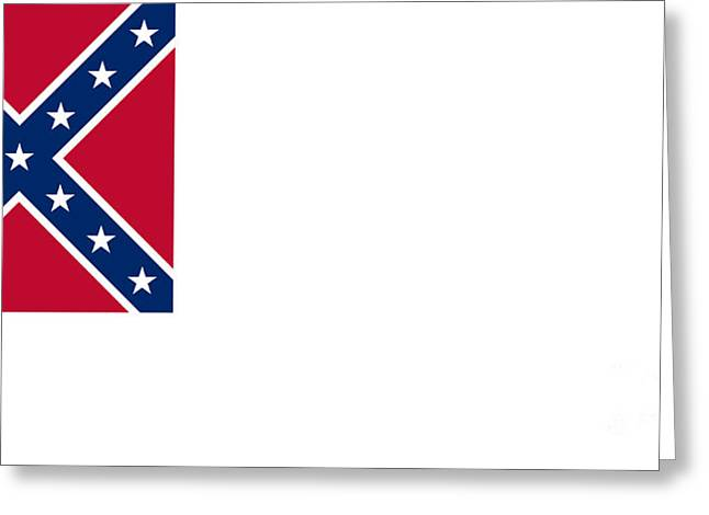 2nd Confederate Flag Greeting Card