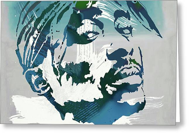 2pac Tupac Shakur Pop Art Poster Greeting Card