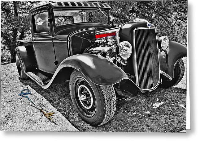 34 Ford Rat Rod Pickup Greeting Card