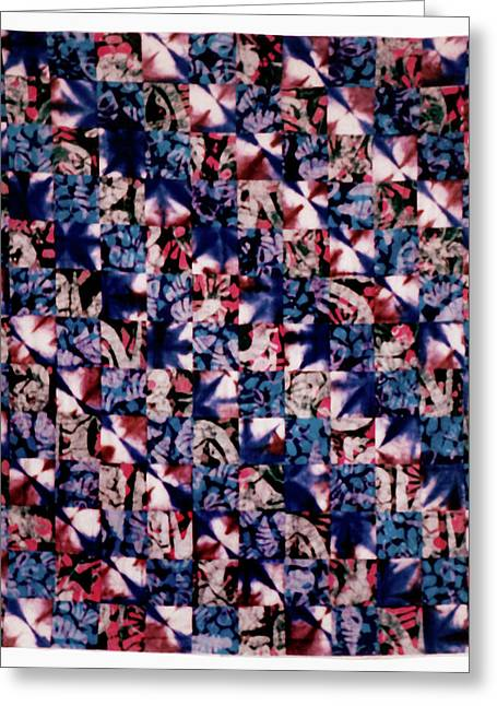 Large Tapestries - Textiles Greeting Cards - 38 Greeting Card by Mildred Thibodeaux