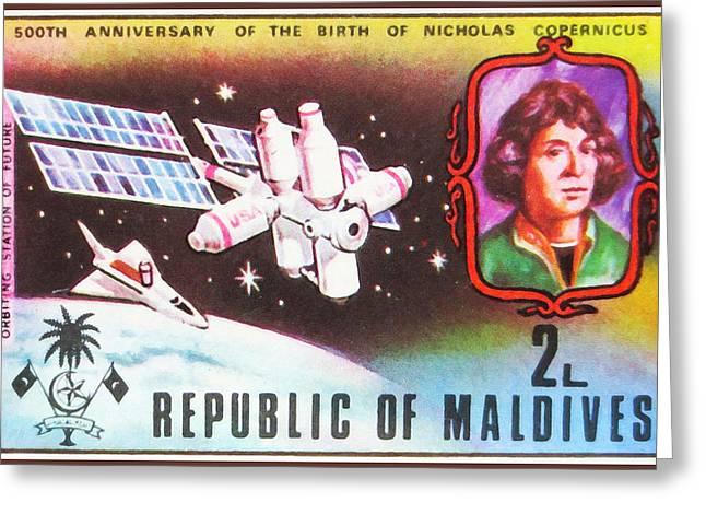 500th Anniversary Of The Birth Of Nicholas Copernicus Greeting Card