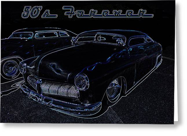 50's Forever Greeting Card by Darrell Foster