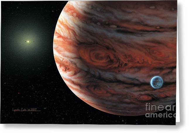 55 Cancri 2007 Greeting Card by Lynette Cook